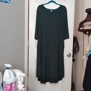 3/4 Sleeve Maxi Tee Dress with pockets! 1X